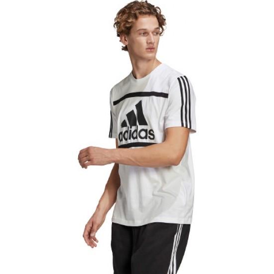 Adidas Essentials Logo Colorblock Tee GK8911 White
