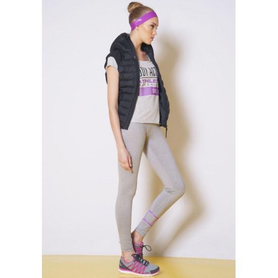 Body Action Women Slim Fit Zip UP  Hooded Vest 716
