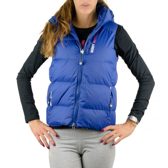 Body Action women Zip Through Quilted Vest 071516
