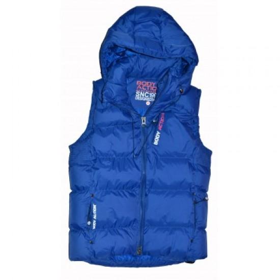 Body Action women Zip Through Quilted Vest 071516
